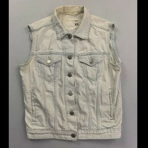 Rag & Bone Blue Sleeveless Denim Jean Jacket XS